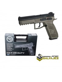 Pistola CZ P-09 negra gbb y co2 con maletin ASG