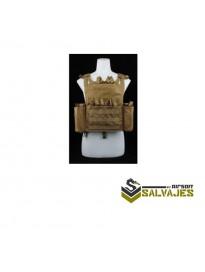 Replica Chaleco JPC completo con placa y pouch Tan