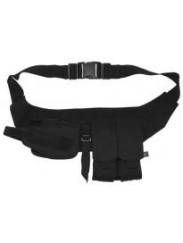 Cinturon con pouches y funda de pistola negra