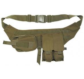Cinturón con pouches y funda de pistola Tan