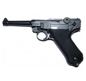 luger p08-s black we